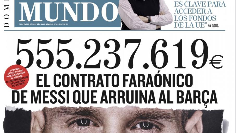 Escándalo: filtran el contrato de Messi que dejó al Barcelona al borde de  la quiebra - Vox - Portal de noticias de la provincia de Mendoza